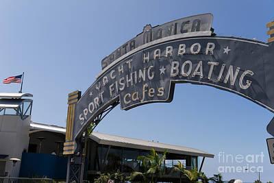Santa Monica Yacht Harbor At Santa Monica Pier In Santa Monica California Dsc3671 Poster