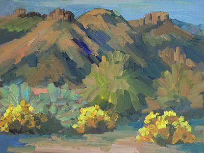 Santa Rosa Mountains And Brittle Bush Poster
