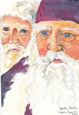 Santa Santa Poster by P Maure Bausch