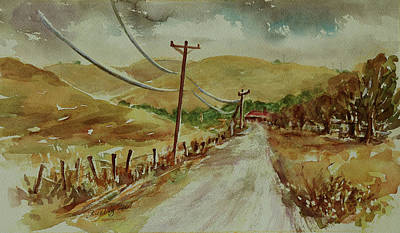 Poster featuring the painting Santa Teresa County Park California Landscape 3 by Xueling Zou