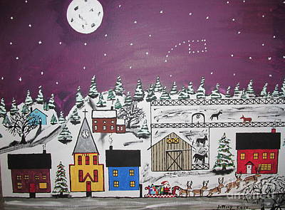 Poster featuring the painting Santa Under The Little Dipper by Jeffrey Koss