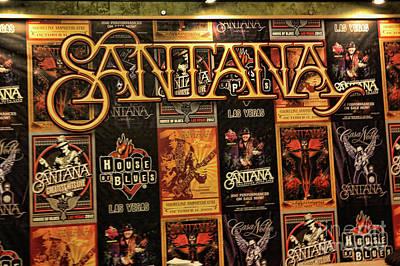 Santana House Of Blues Poster by Chuck Kuhn