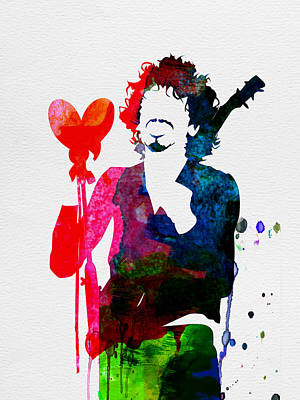 Santana Watercolor Poster