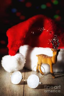Santas' Glasses Poster
