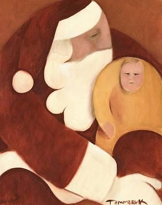 Santa's Lap Art Print Poster by Tommervik
