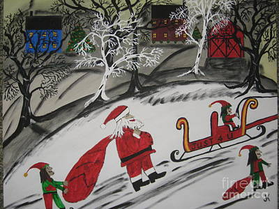 Poster featuring the painting Santa's Work Is Done  by Jeffrey Koss