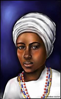 Santeria Priestess  Poster by Carmen Cordova