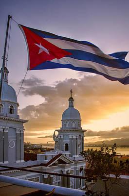 Santiago De Cuba Dusk Poster by Claude LeTien