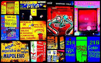 Santiago Funky Walls  Poster by Funkpix Photo Hunter