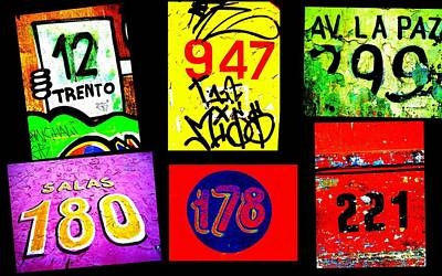 Santiago Street Numbers Poster by Funkpix Photo Hunter