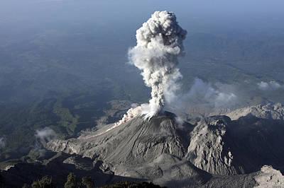 Santiaguito Ash Eruption, Guatemala Poster by Martin Rietze