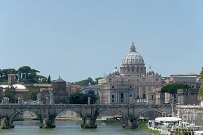 Santo Spirito And Vatican Poster by Fabrizio Ruggeri