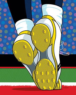 Santonio Holmes Toe Tap Poster by Ron Magnes
