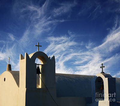 Poster featuring the photograph Santorini Greece Architectual Line 3 by Bob Christopher