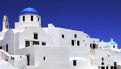 Poster featuring the photograph Santorini Greece Architectual Line 6 by Bob Christopher