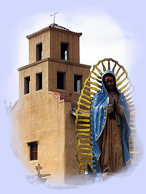 Poster featuring the photograph Santuario De Guadalupe Santa Fe New Mexico by Kurt Van Wagner