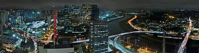Sao Paulo Skyline Modern Corporate Districts Brooklin Morumbi Chacara Santo Antonio Poster by Carlos Alkmin