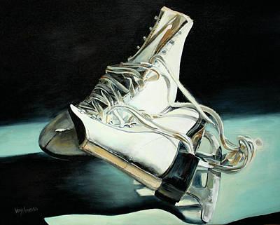 Sarah's Ice Skates Poster by Venetka Arsenov