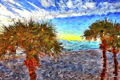 Sarasota Beach Florida Poster by Joan Reese