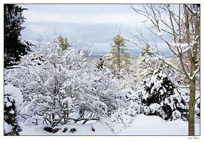 Saratoga Winter Scene Poster