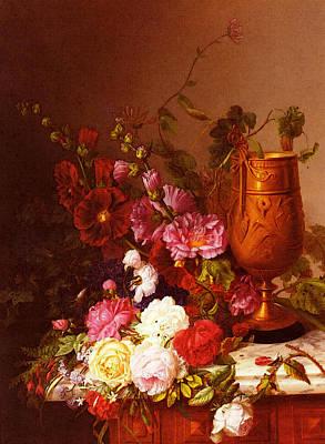 Sartorius Virginie De Arranging The Bouquet Poster