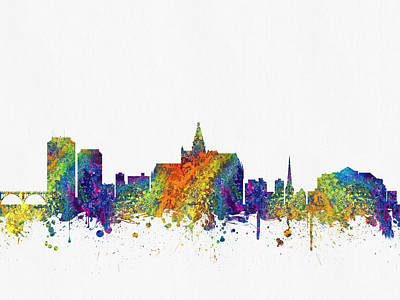 Saskatoon Saskatchewan Skyline Color03 Poster by Aged Pixel