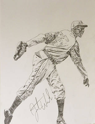 Satchel Paige Poster by Justin Wade