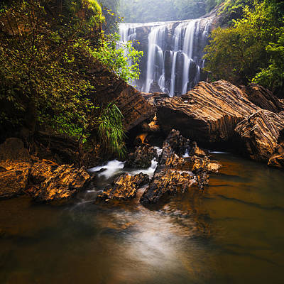 Sathodi Falls In Western Ghats In India Poster