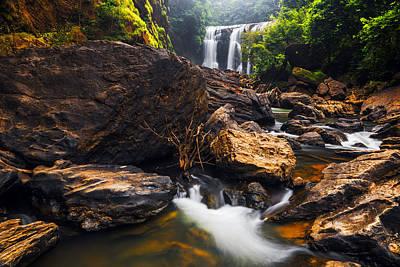 Sathodi Falls In Western Ghats Karnataka India Poster