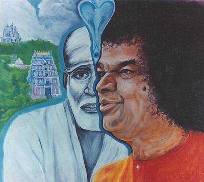 Sathya Sai Baba- Shirdi Sai Baba Poster