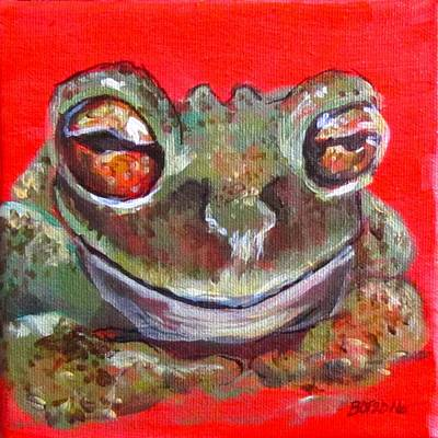 Satisfied Froggy  Poster by Barbara O'Toole