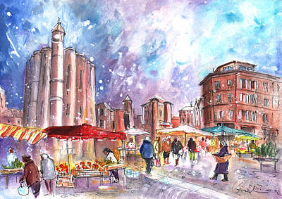 Saturday Market In Albi 02 Poster