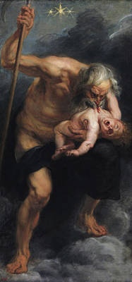 Saturn Devouring A Son Poster by Peter Paul Rubens