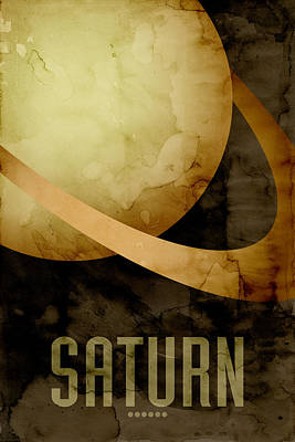 Saturn Poster by Michael Tompsett