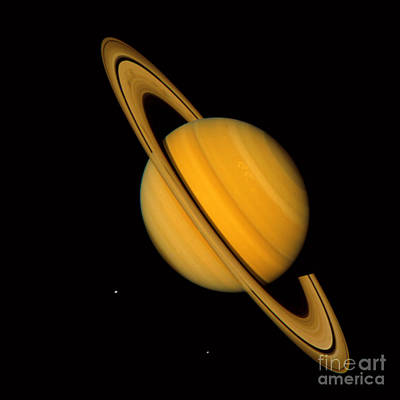 Saturn Poster by NASA / Science Source