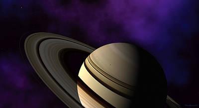 Saturn Rings Close-up Poster by David Robinson