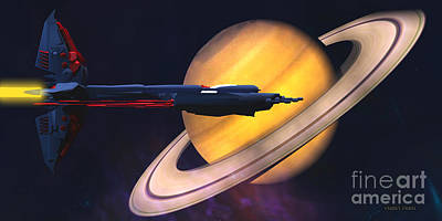 Saturn Visit Poster by Corey Ford