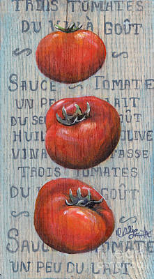 Sauce Tomate Poster by Callie Smith