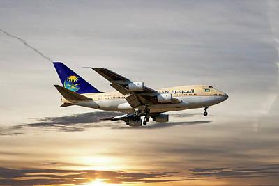 Saudi Arabian Government Boeing 747-sp Poster