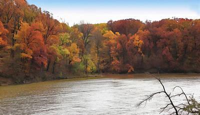 Sauk Lake Autumn Poster