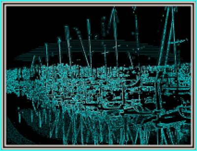 Sausalito Harbor Digitalized Poster