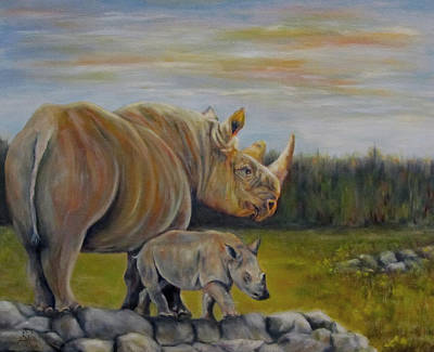 Savanna Overlook, Rhinoceros  Poster
