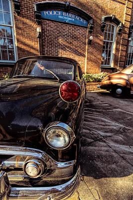 Savannah Antique Police Car Poster by Kim Hojnacki