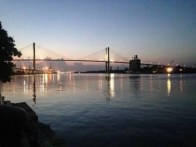 Savannah Bridge Evening  Poster