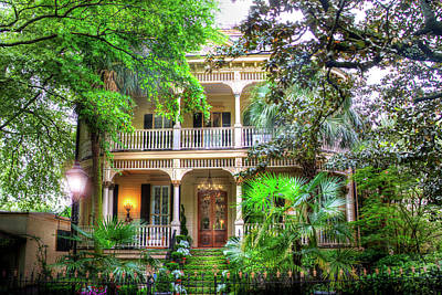 Savannah Historic House Poster
