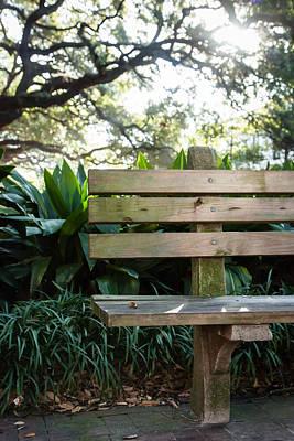 Savannah Park Bench Poster by Erin Cadigan