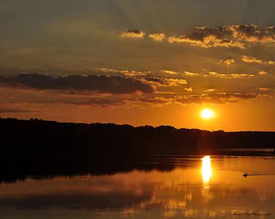 Savannah River Sunset Poster