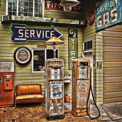 Save On Gas Poster by Dale Stillman