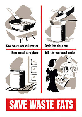 Save Waste Fats - Ww2  Poster by War Is Hell Store