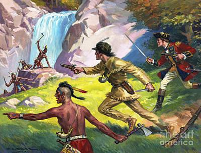 Wild West Scene Poster